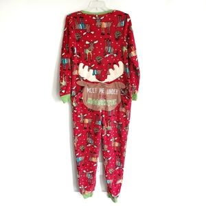 Christmas Zip Up One Oiece Pajamas